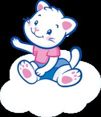 Mascotte Célia sur un nuage